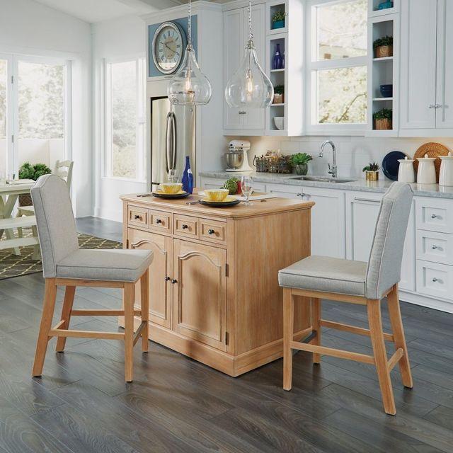 Homestyles Claire 3 Piece Off White Kitchen Island Set 5170 948 Mauston Furniture Appliance Mauston Wi