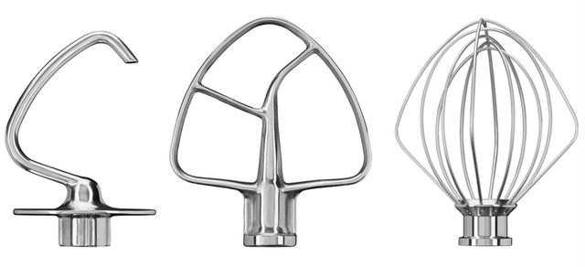 KitchenAid® Stainless Steel 3 Piece Stand Mixer Attachment Kit-KSM5TH3PSS