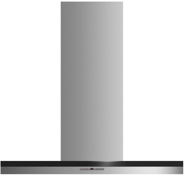 """Fisher Paykel 36"""" Wall Chimney Vent Hood-Brushed Stainless Steel with Black Glass-HC36DTXB2"""