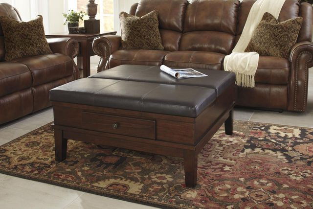 Signature Design by Ashley® Gately Medium Brown Ottoman Cocktail Table-T845-21