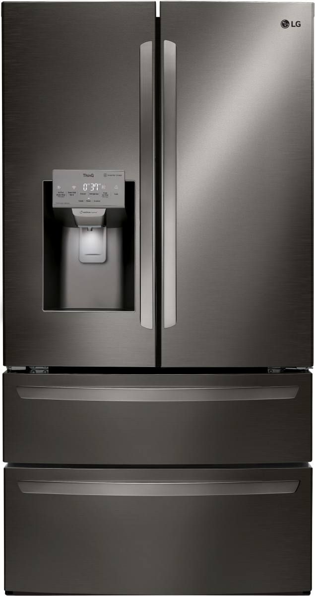 LG 27.8 Cu. Ft. Black Stainless Steel French Door Refrigerator-LMXS28626D