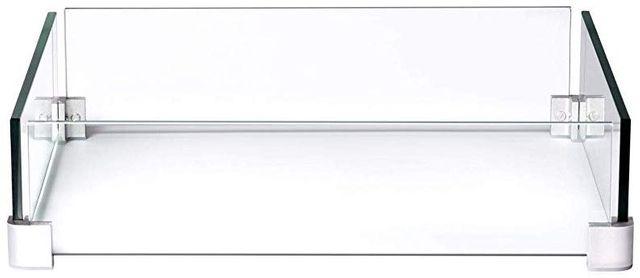 Déflecteur en verre pour foyer extérieur linéaire au Napoleon Patioflame-GPFL-WNDSCRN
