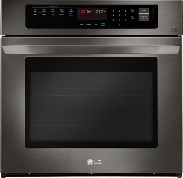 """LG 29.75"""" Black Stainless Steel Electric Single Oven Built In-LWS3063BD"""