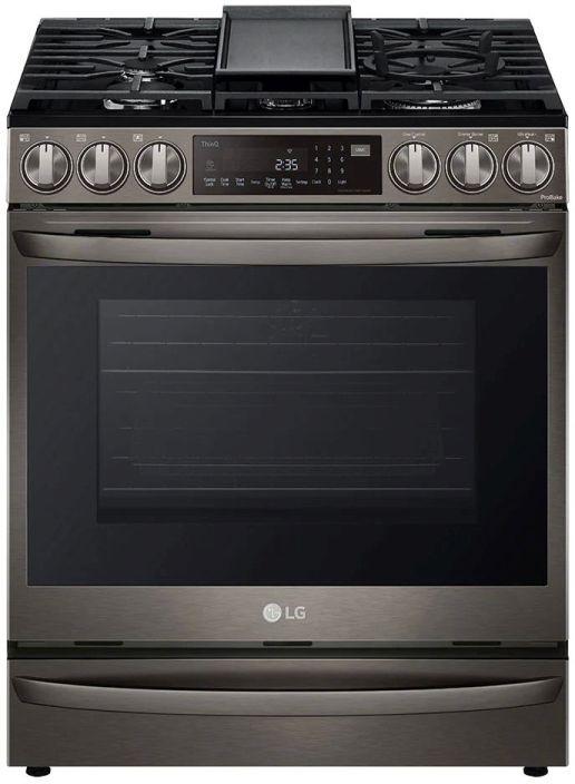 LG 6.3 Cu. Ft. PrintProof™ Black Stainless Steel Slide-In Gas Range -LSGL6337D