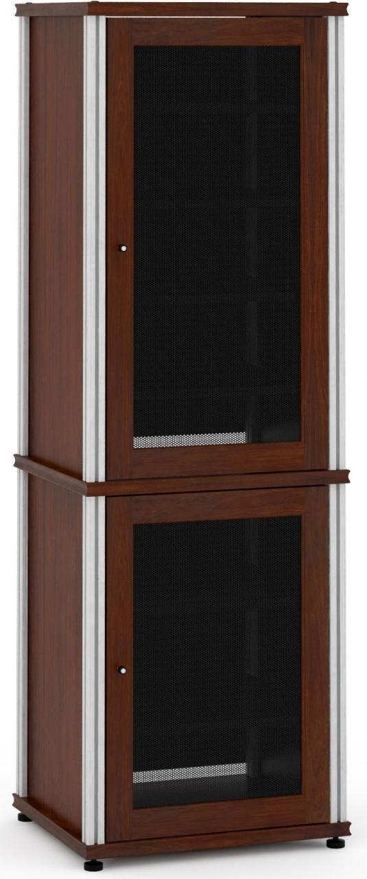 Salamander Designs® Synergy Model 703 AV Cabinet-Dark Walnut/Aluminum-703W/A