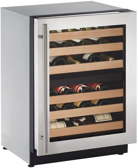 U-Line® 2000 Series 4.7 Cu. Ft. Stainless Steel Wine Cooler-2224ZWCS-00B