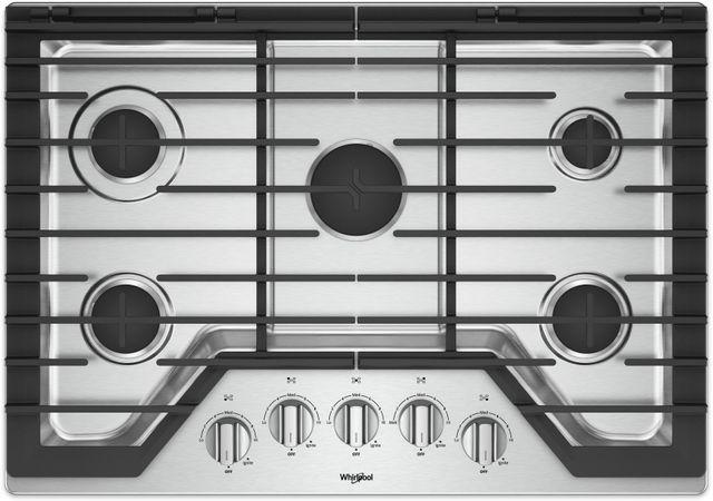 "Whirlpool® 30"" Gas Cooktop-Stainless Steel-WCG77US0HS"