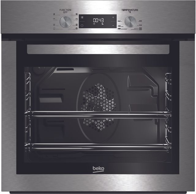 """Beko 24"""" Fingerprint Free Stainless Steel Electric Built In Single Oven-WOS24102SS"""