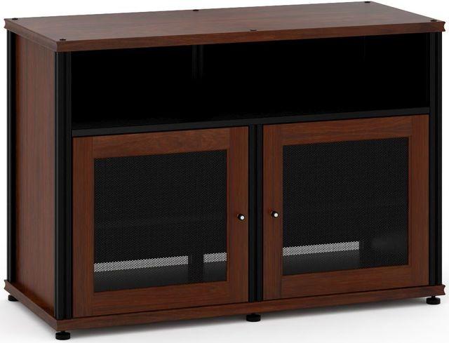 Salamander Designs® Synergy Model 329 AV Cabinet-Dark Walnut/Black-SB329W/B