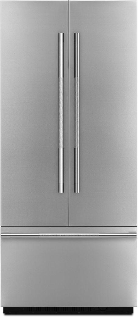 "JennAir RISE™ 36"" Stainless Steel Fully Integrated Built-In French Door Refrigerator Panel-Kit-JBFFS36NHL"