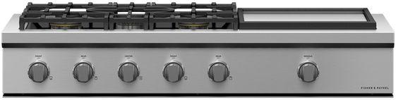 Table de cuisson encastrable au gaz Fisher Paykel® de 48 po - Acier inoxydable-CPV3-485GD-L
