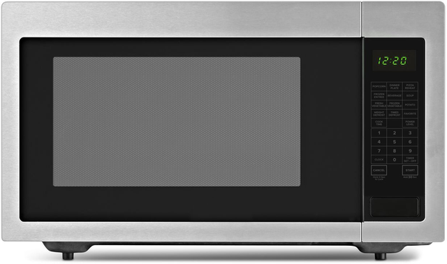Amana® 2.2 Cu. Ft. Black on Stainless Countertop Microwave-AMC4322GS