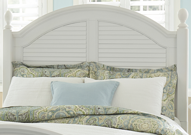 Liberty Furniture Summer House I Oyster White Queen Poster Headboard-607-BR01