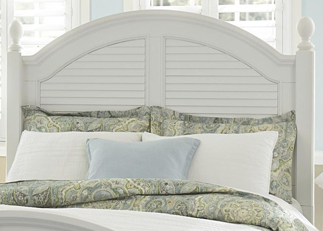 Liberty Furniture Summer House I Oyster White King Poster Headboard-607-BR03
