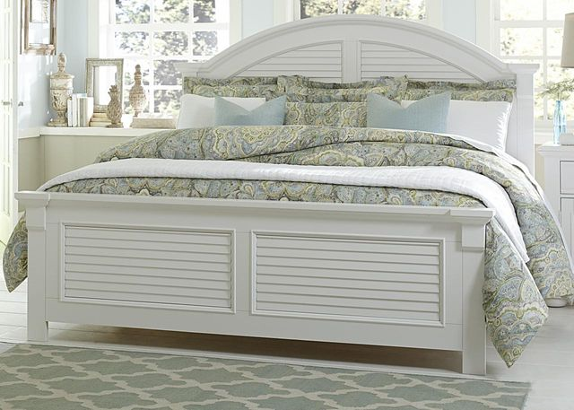 Liberty Furniture Summer House I Oyster White King Panel Headboard-607-BR15