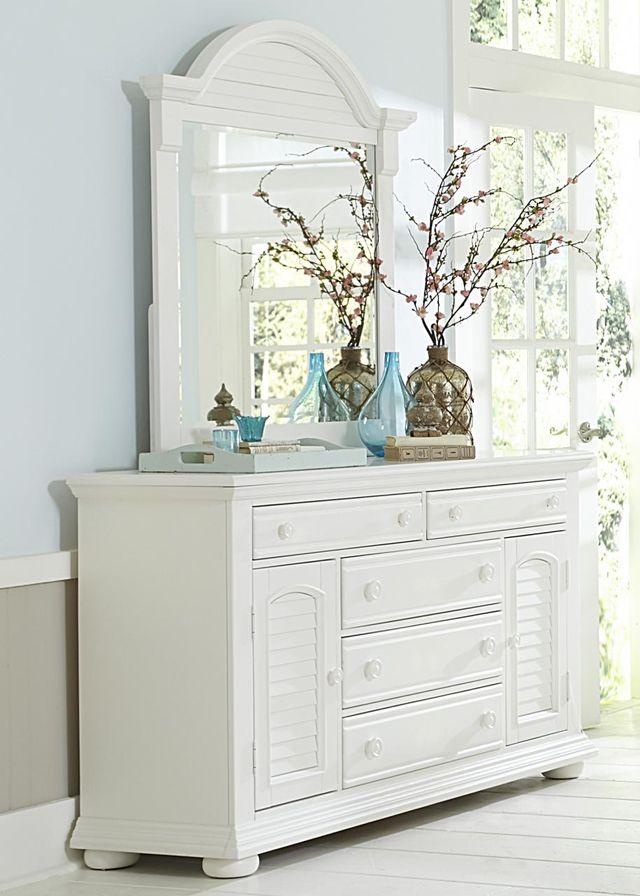 Liberty Furniture Summer House I Oyster White 5 Drawer Dresser-607-BR32