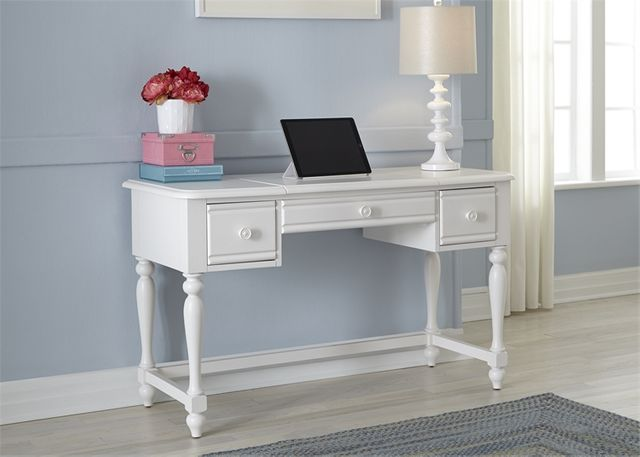Liberty Furniture Summer House Oyster White Youth Vanity Desk-607-BR35
