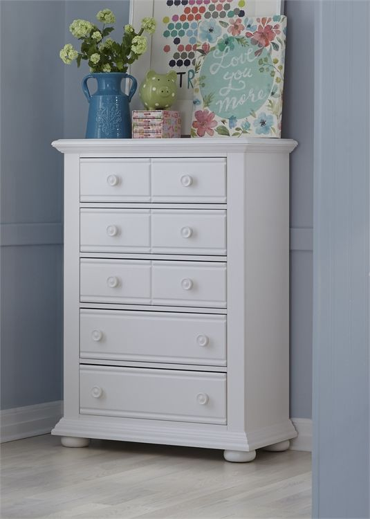 Liberty Furniture Summer House Oyster White Youth Chest-607-BR40