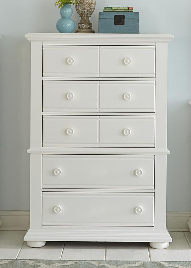 Liberty Furniture Summer House I Oyster White 5 Drawer Chest-607-BR41