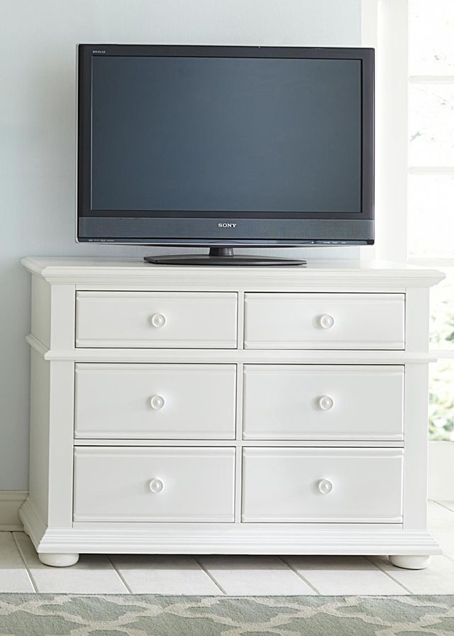 Liberty Furniture Summer House I Oyster White Media Chest-607-BR45