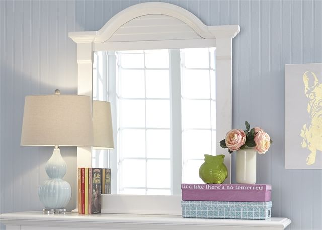 Liberty Furniture Summer House Oyster White Youth Small Mirror-607-BR50