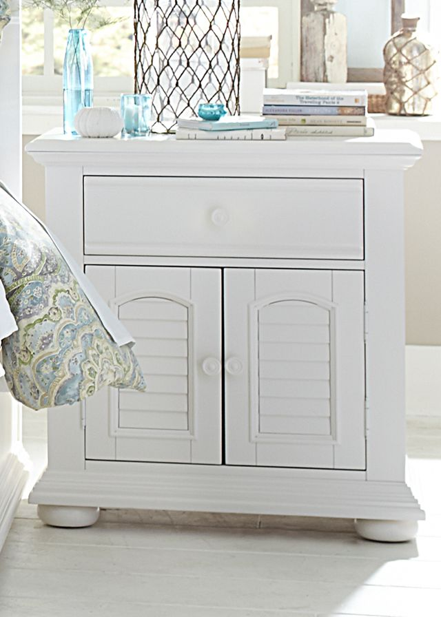 Liberty Furniture Summer House I Oyster White One Drawer Nightstand-607-BR61