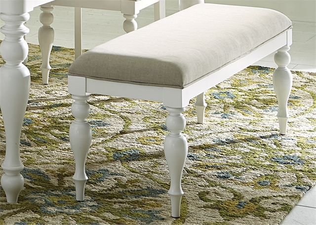 Liberty Furniture Summer House Oyster White Bench-607-C9001B