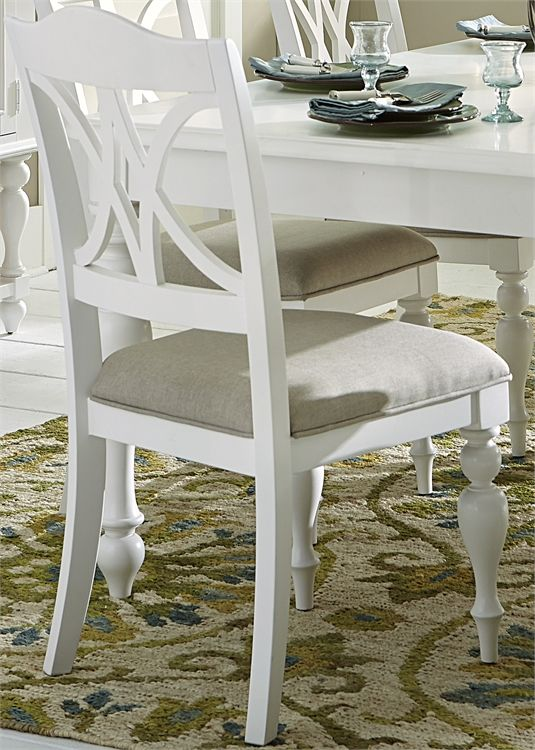 Liberty Furniture Summer House Oyster White Side Chair-607-C9001S