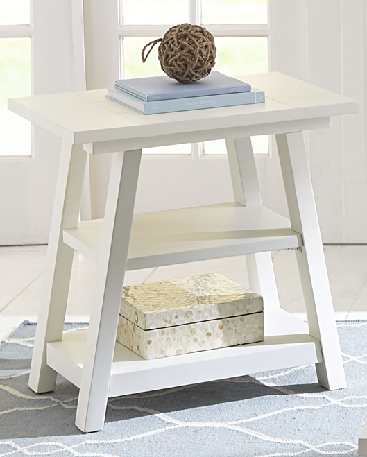 Liberty Furniture Summer House Oyster White Chair Side Table-607-OT1021