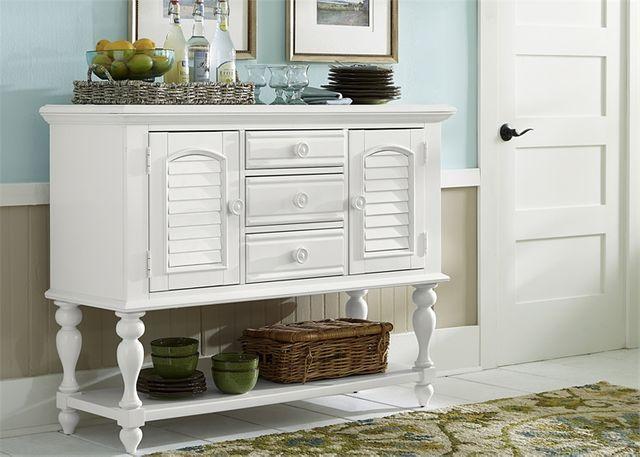 Liberty Furniture Summer House Oyster White Server-607-SR5239