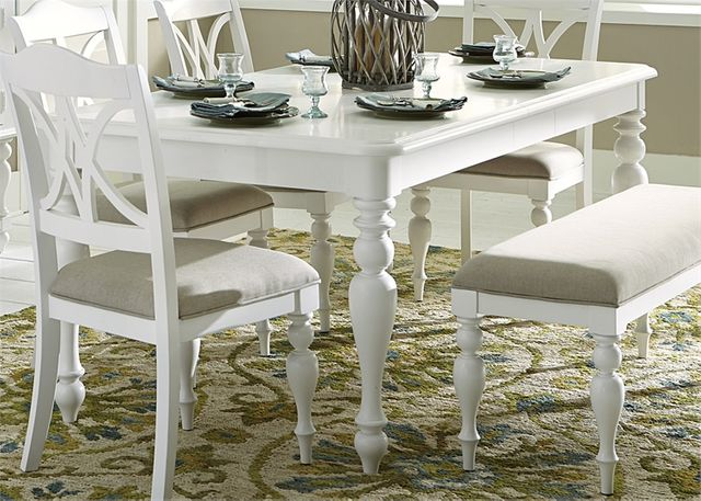 Liberty Furniture Summer House Oyster White Table-607-T4078
