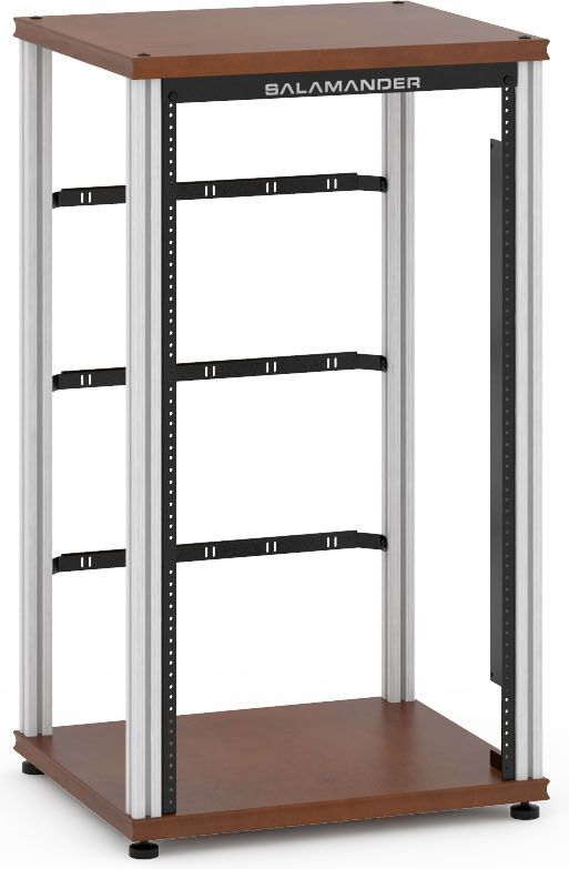 Salamander Designs® Synergy Single 40 Rack Mount-Dark Cherry/Aluminum-SU40RMC/A
