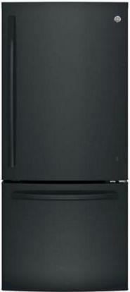 GE® Series 20.9 Cu. Ft. Bottom Freezer Refrigerator-Black-GBE21DGKBB