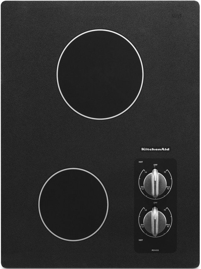 "KitchenAid® 17"" Black Electric Cooktop-KECC056RBL"