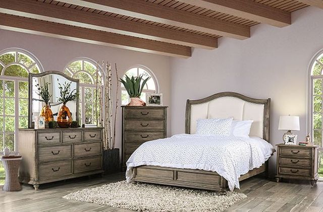 Furniture Of America Belgrade Ii Rustic Five Piece Queen Bedroom Set Cm7612q 5pc Chest Nazareth Furniture Pico Rivera Ca
