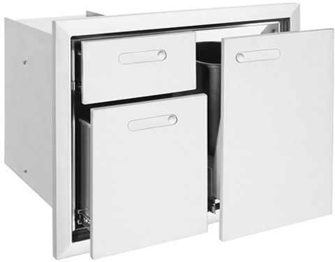 """Lynx® Professional Series 30"""" Trash Center And Double Drawers-LTA30-4"""
