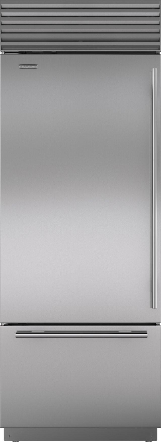 Sub-Zero® 17.4 Cu. Ft. Stainless Steel Bottom Freezer Refrigerator-BI-30U/S/TH-LH