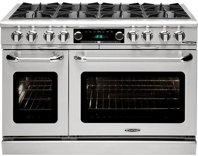 """Capital Connoisseurian 48"""" Stainless Steel Free Standing Dual Fuel Range-COB488L"""