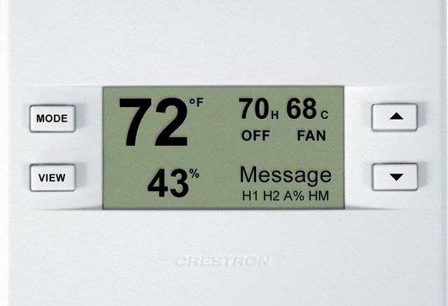 Crestron® Heating, Cooling and Relative Humidity Thermostat-White-CHV-THSTATW