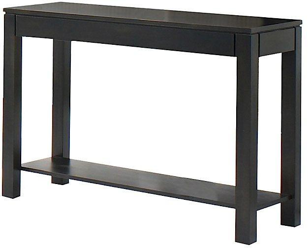 Table console rectangulaire, noir, VieBois®-990 TCON