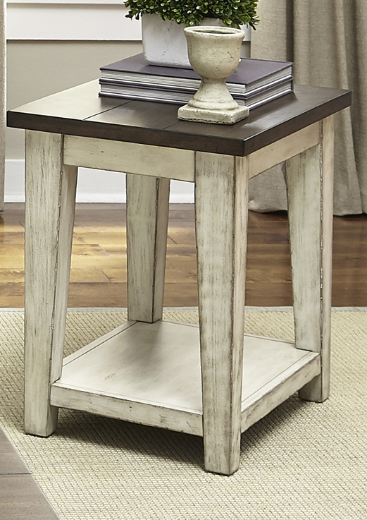 Liberty Furniture Lancaster Weathered Bark Chair Side Table-612-OT1021