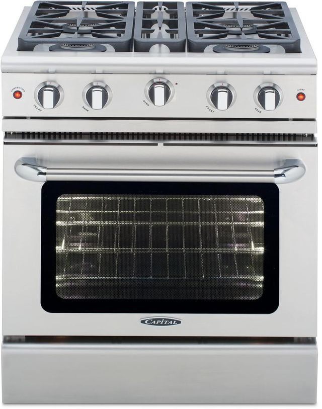 """Capital Precision™ 30"""" Stainless Steel Free Standing Gas Range-MCR304L"""