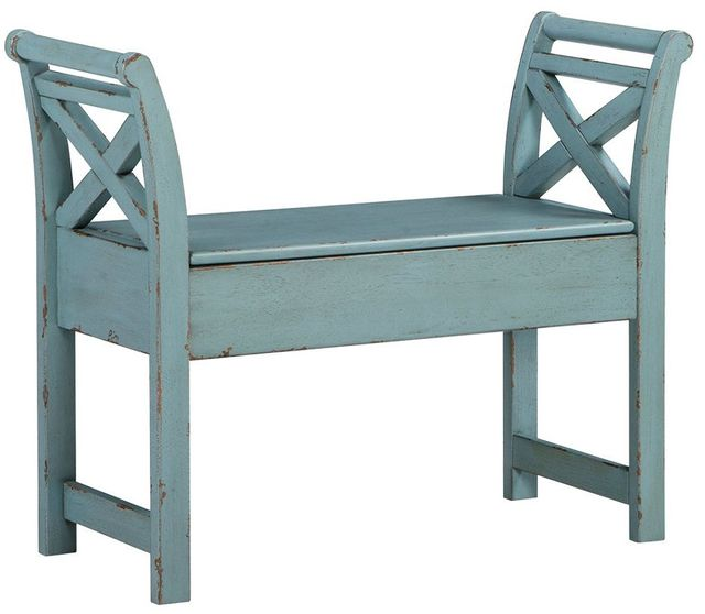 Signature Design by Ashley® Heron Ridge Blue Accent Bench-A4000035