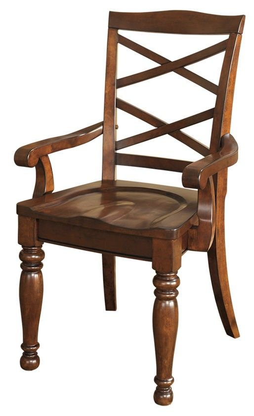 Millennium® By Ashley Porter Rustic Brown Dining Room Arm Chair-D697-01A