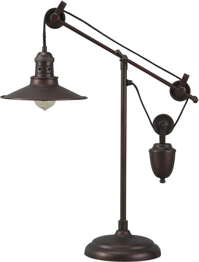 Kylen Bronze Finish Metal Desk Lamp-L734152