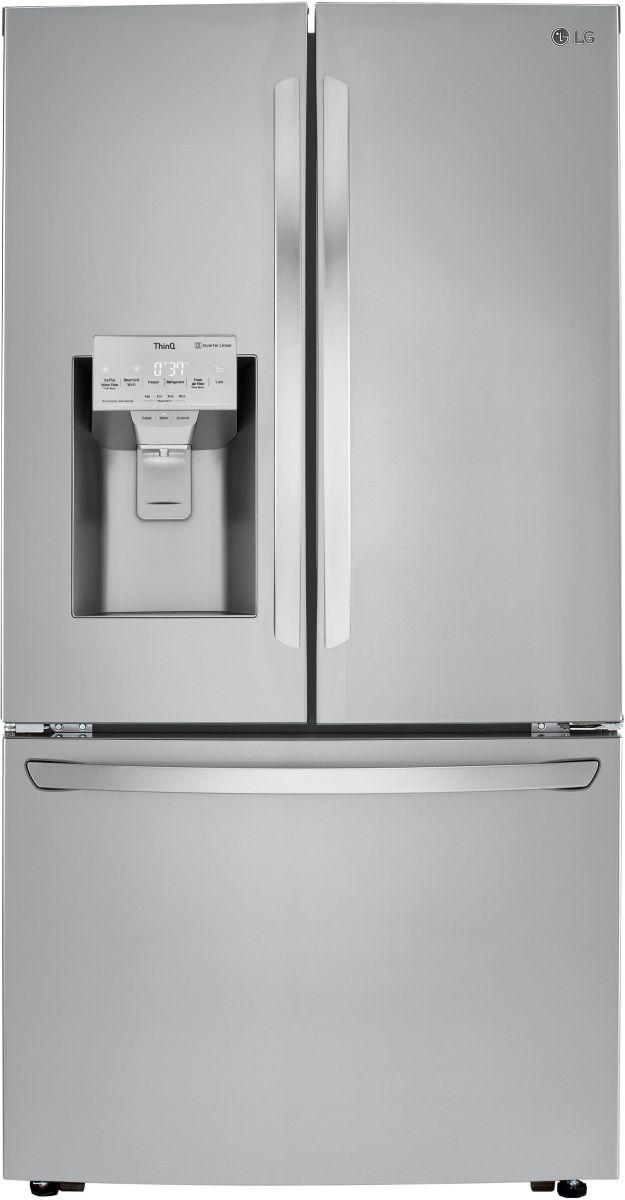 LG 24 Cu. Ft. PrintProof™ Stainless Steel Counter Depth French Door Refrigerator-LRFXC2416S
