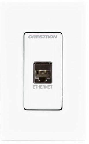 Crestron® Media Presentation Wall Plate-White-MP-WP183-W