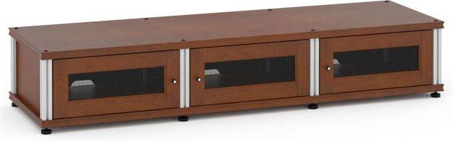 Salamander Designs® Synergy Model 133 AV Cabinet-Dark Walnut/Aluminum-SB133W/A
