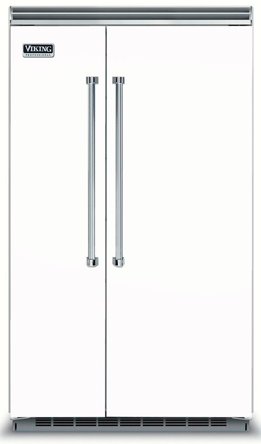 Viking® 5 Series 29.05 Cu. Ft. White Built In Side By Side Refrigerator-VCSB5483WH
