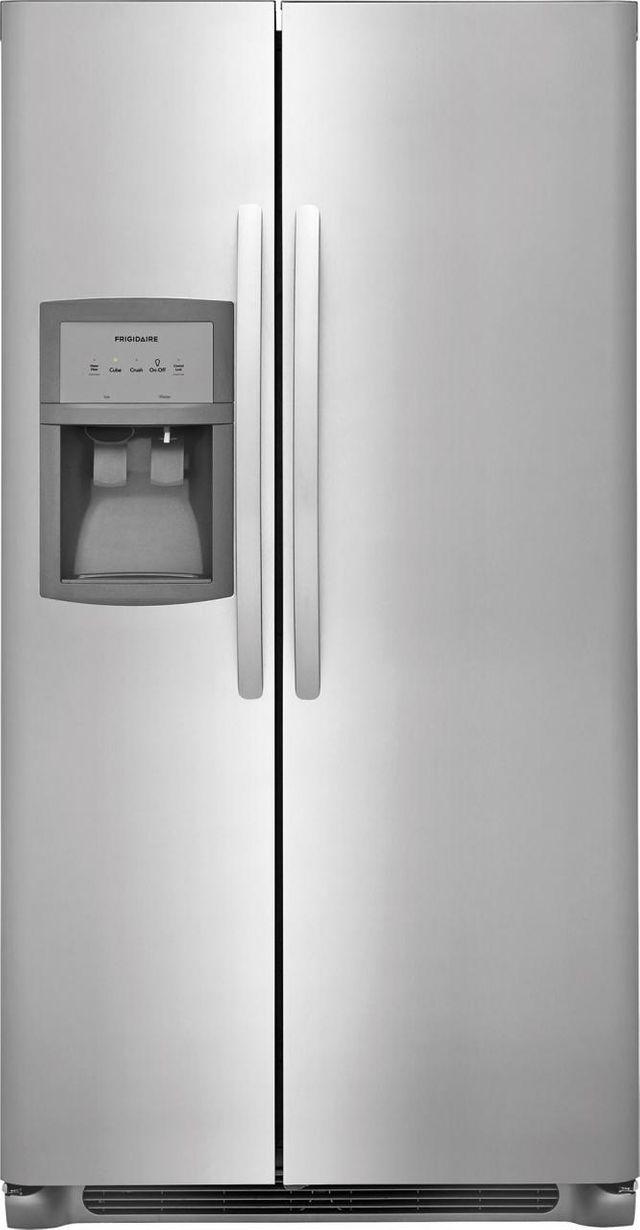 Frigidaire® 25.5 Cu. Ft. Stainless Steel Standard Depth Side By Side Refrigerator-FFSS2625TS